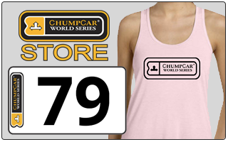Shop at the ChumpCar Store for number plates and CCWS gear!